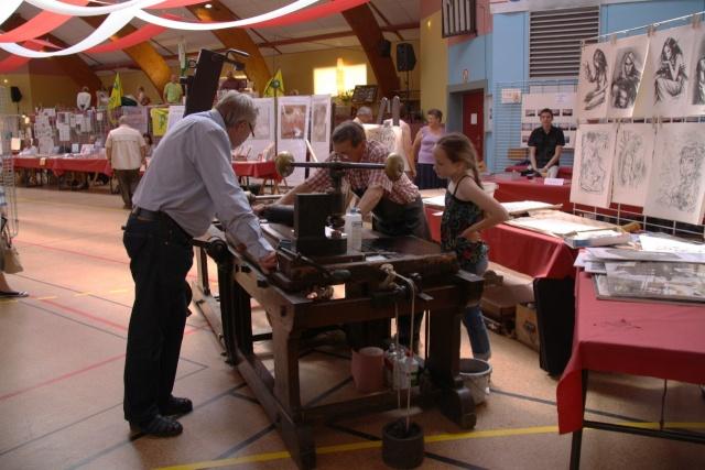 Tom Barocco ,lithographe , au 10ème salon du livre régional de Marlenheim 5 et 6 juin 2010 Img_9513