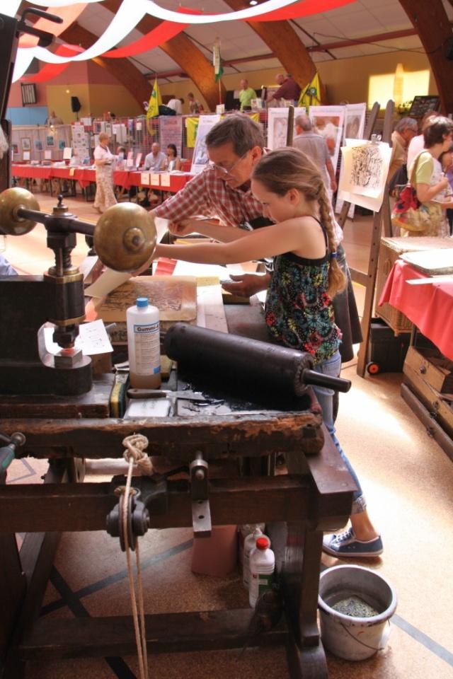 Tom Barocco ,lithographe , au 10ème salon du livre régional de Marlenheim 5 et 6 juin 2010 Img_9516