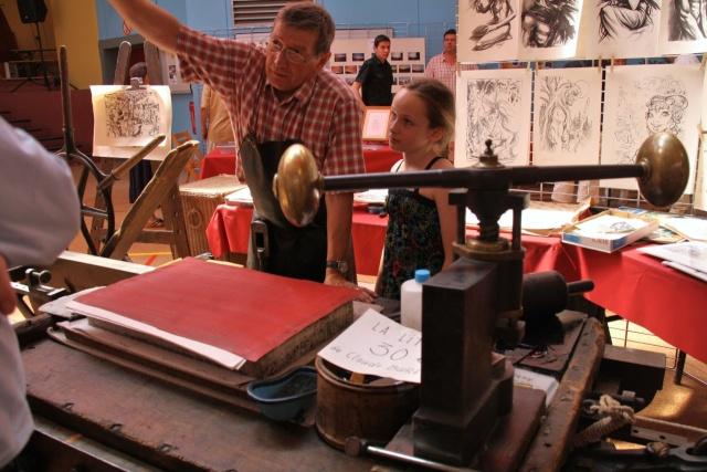 Tom Barocco ,lithographe , au 10ème salon du livre régional de Marlenheim 5 et 6 juin 2010 Img_9518