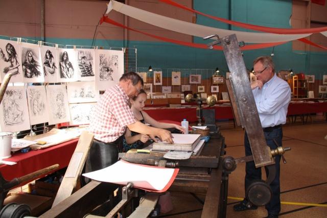 Tom Barocco ,lithographe , au 10ème salon du livre régional de Marlenheim 5 et 6 juin 2010 Img_9526