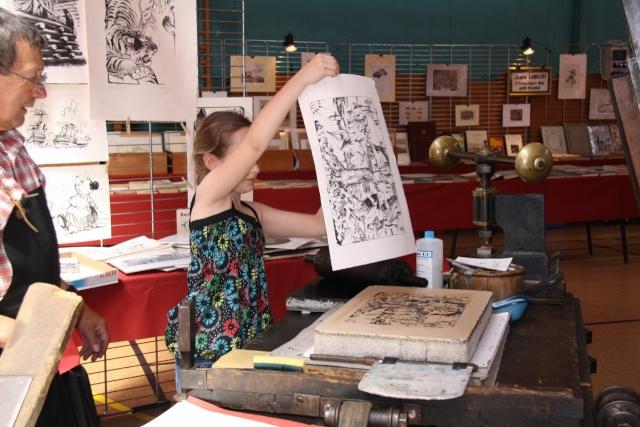 Tom Barocco ,lithographe , au 10ème salon du livre régional de Marlenheim 5 et 6 juin 2010 Img_9611