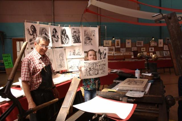 Tom Barocco ,lithographe , au 10ème salon du livre régional de Marlenheim 5 et 6 juin 2010 Img_9612