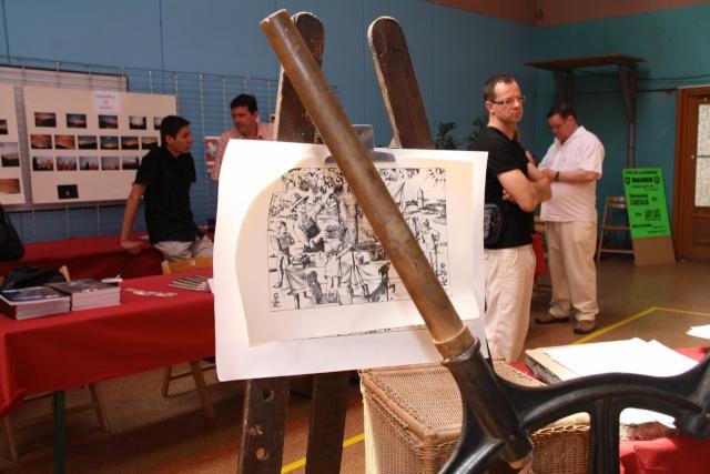 Tom Barocco ,lithographe , au 10ème salon du livre régional de Marlenheim 5 et 6 juin 2010 Img_9613
