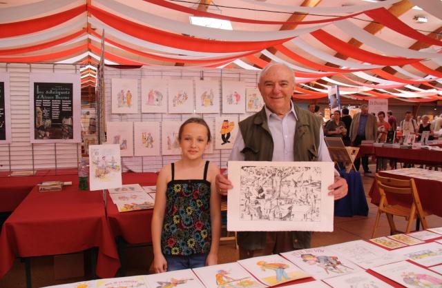 Tom Barocco ,lithographe , au 10ème salon du livre régional de Marlenheim 5 et 6 juin 2010 Img_9614