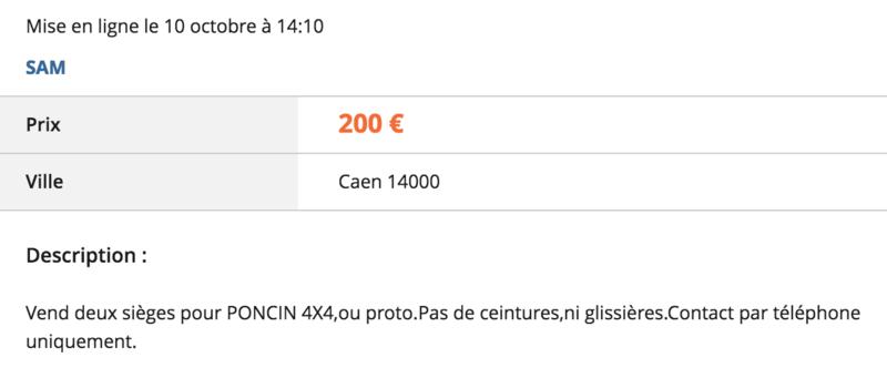 [lbc] sièges Poncin 4x4 Captur10