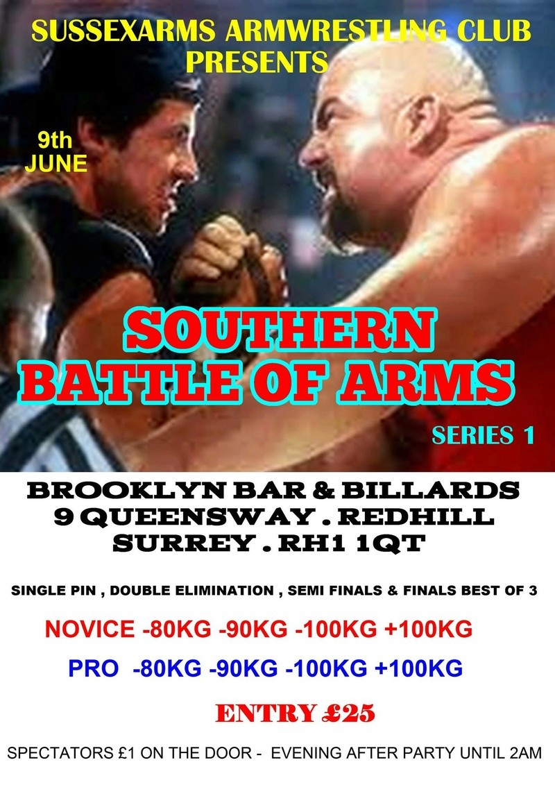 Sussex armwrestling club proudly presents on the 9th June 2018 1780cf10