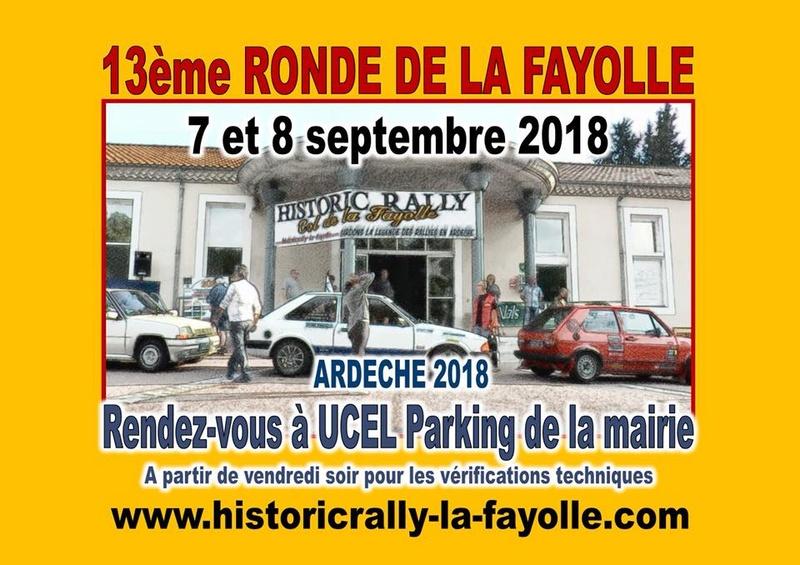 [07] 07-08/09/2018 13ème Ronde de la Fayolle à UCEL (07) 27751510