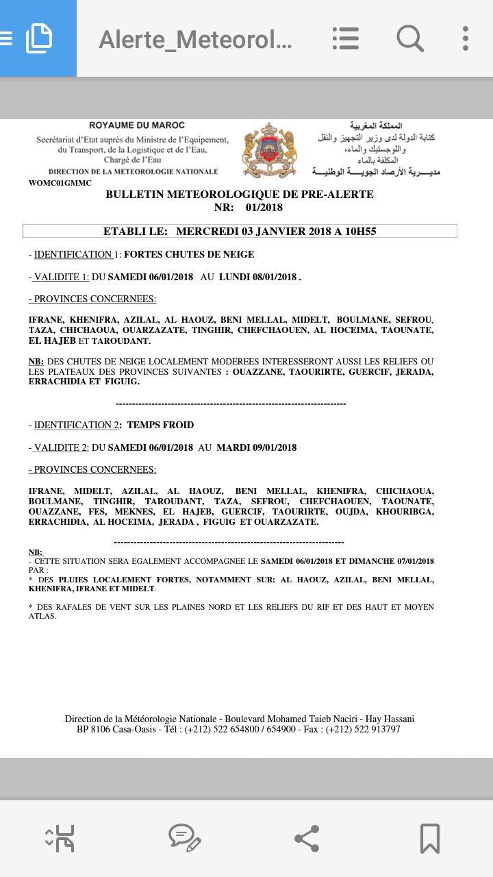[Maroc/Méteo, saisons, heure] Alerte Meteo pour demain 6.01.2018 Img_2111