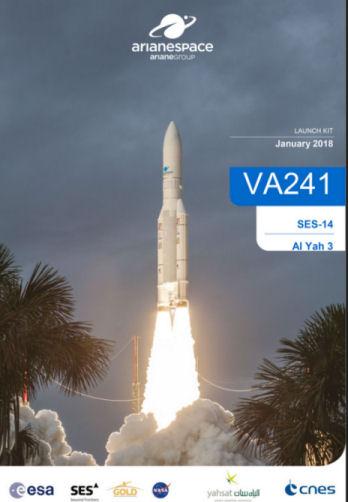 Ariane 5 ECA VA241 (Al Yah 3 + SES-14) - 25.1.2018 [Anomalie] Lancem11