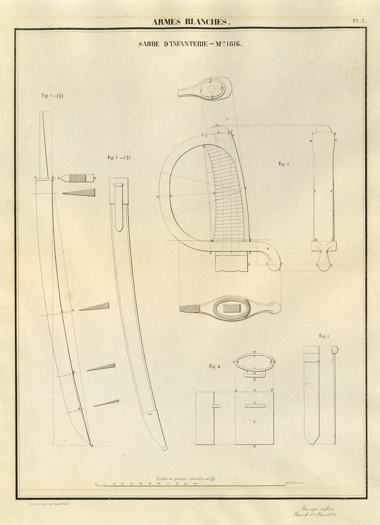 Différence entre le sabre briquet mod. an 11 et le mod.1816? 18540310