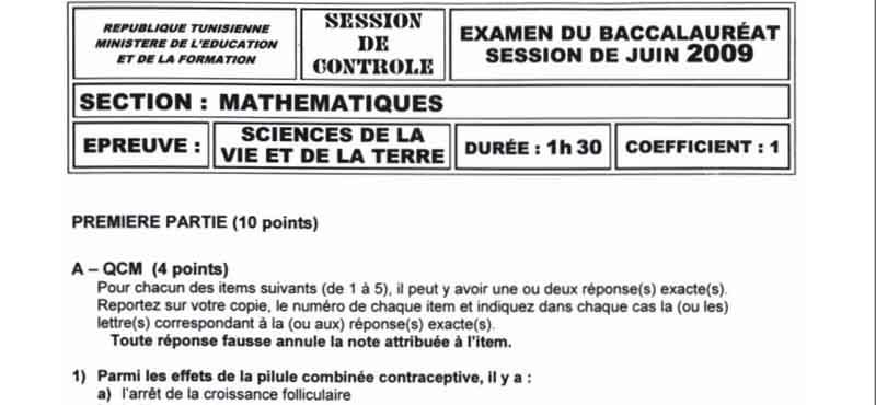 Devoirs Science 4em Math 2009 Svt_mt10