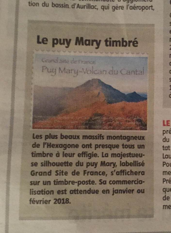 Timbre du Puy Mary 25396210
