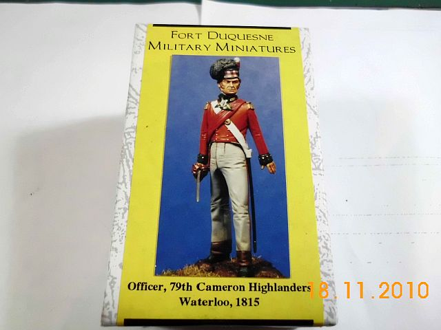 Fort Duquesne - Offizier 79th Cameron Highlanders, Waterloo 1815 - Resin 54mm 1100