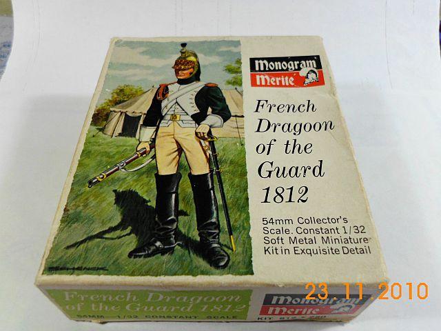 Monogram Merite - French Dragoon of the Guard 1812 -Zinnbausatz 1/32 1102
