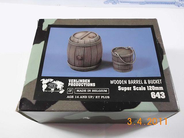 Verlinden 643 - Holzfass und Eimer 120mm Superscale 1139