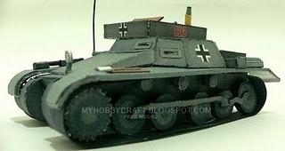 Kartonmodell Munitionsschlepper Sdfkz 111 in 1/35 P1160410