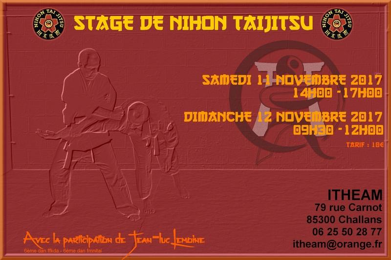 Stage Jean-Luc Lemoine à Challans Affich10