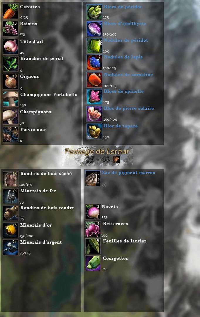 Guide de récolte de matériaux  Passag10