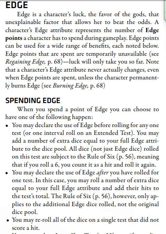 Règle de la chance Edge111