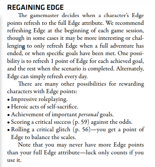 Règle de la chance Edge310