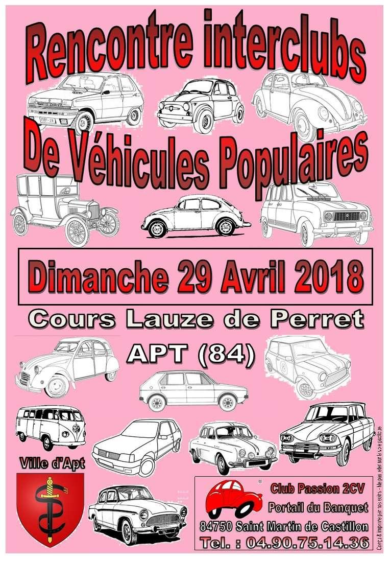 Rencontre Interclubs de véhicules populaires - 29/04/18 Affich18