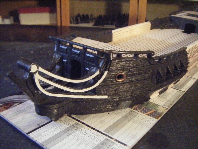[FLIBUSTE 28MM] Un navire à partir d'un Black Pearl MegaBlock Dscf9910