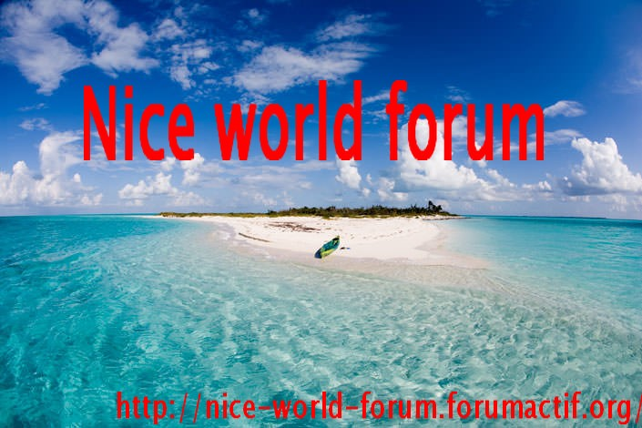 Nice world forum