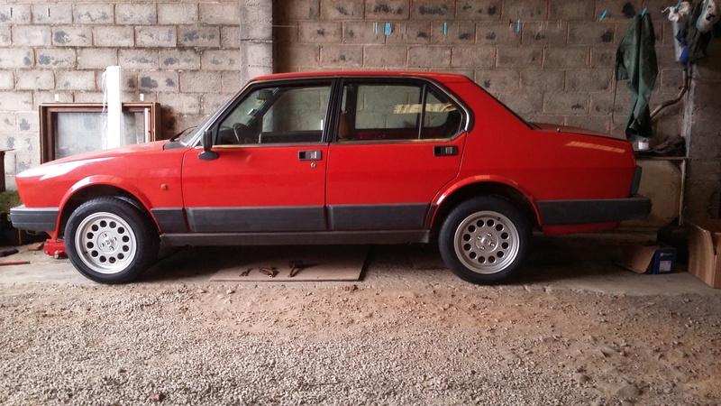 Alfetta berline 2.0 1984, de retour sur la route en 2018 20171210