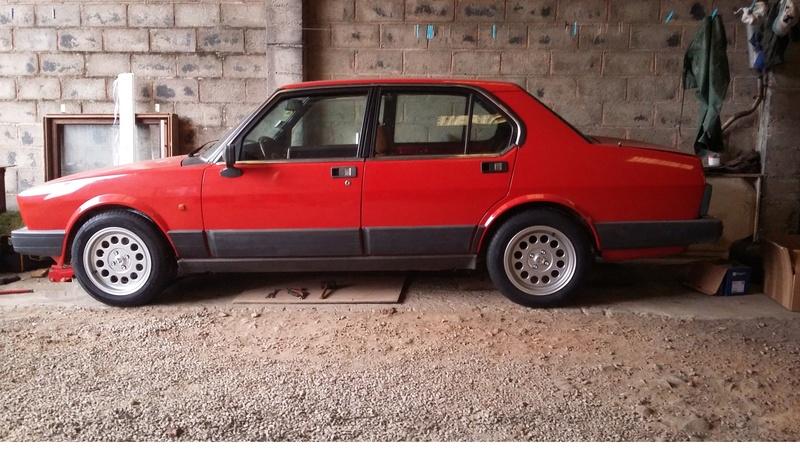 Alfetta berline 2.0 1984, de retour sur la route en 2018 20171215