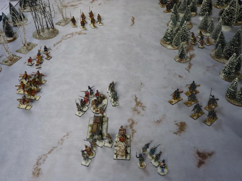 La Mort Blanche (règle d'escarmouche pendant la Retraite de Russie) P1060625