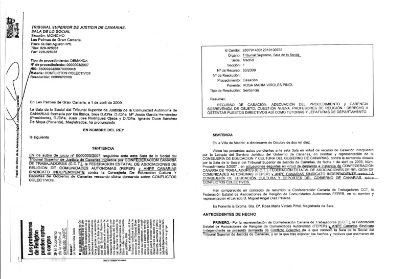 ANPE DE CANARIA RESPONDE A FEPER  Fax210