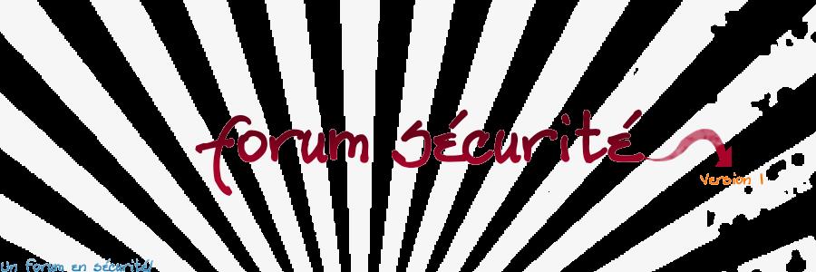 Forum-Sécurité