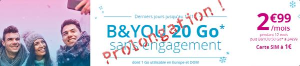Bouygues Telecom prolonge encore... et encore son offre B&You 20Go à 2,99€/mois  15131511