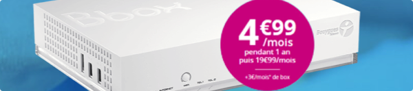 La Bbox Standard est au prix de 4,99€/mois pendant 1 an 15181610