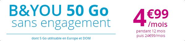 Bouygues Telecom lance la Série Spéciale B&You 50Go à 4,99€/mois 15270510