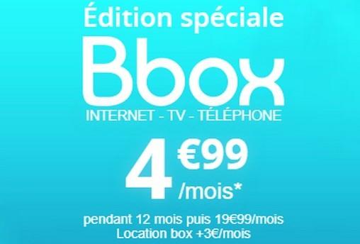 L'Edition Spéciale Bbox à 4,99€/mois est maintenue jusqu'au 6 novembre 499bbo10