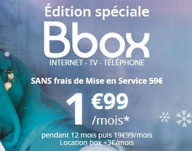Bon Plan ADSL: L'offre Bbox en Edition Spéciale à 1,99€ pendant 12 mois Bboxed10