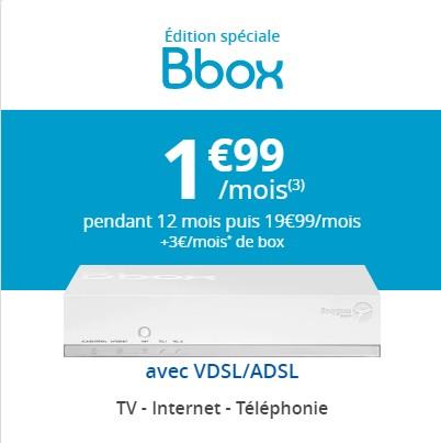 Série Spéciale Bbox à 1,99€/mois: 7 jours supplémentaires  Bboxof10