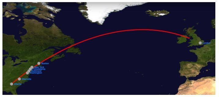 لماذا لا تطير الطائرات بشكل مباشر ومستقيم فوق المحيط الأطلسي ؟ Captur10
