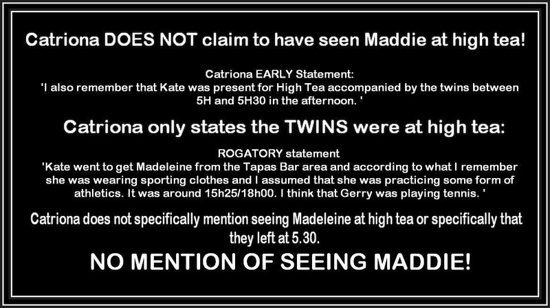 Do you believe something happened earlier than May 3rd ? If so, how did the McCanns manage to deceive everyone at the creche? Catrio10
