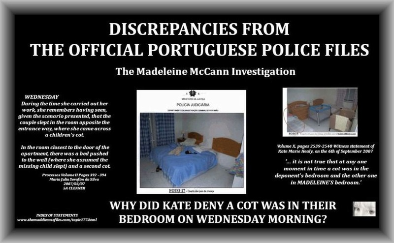 Theory: Discrepancies surrounding 'crime scene' and sleeping arrangements Cot_in10