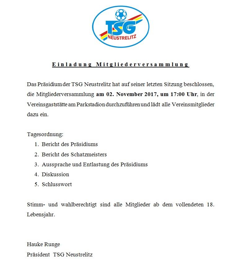 Mitgliederversammlung 2017 Einlad11