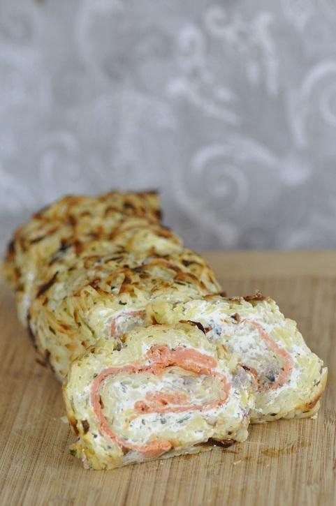 Roulé de pommes de terre au saumon... Ob_58e10