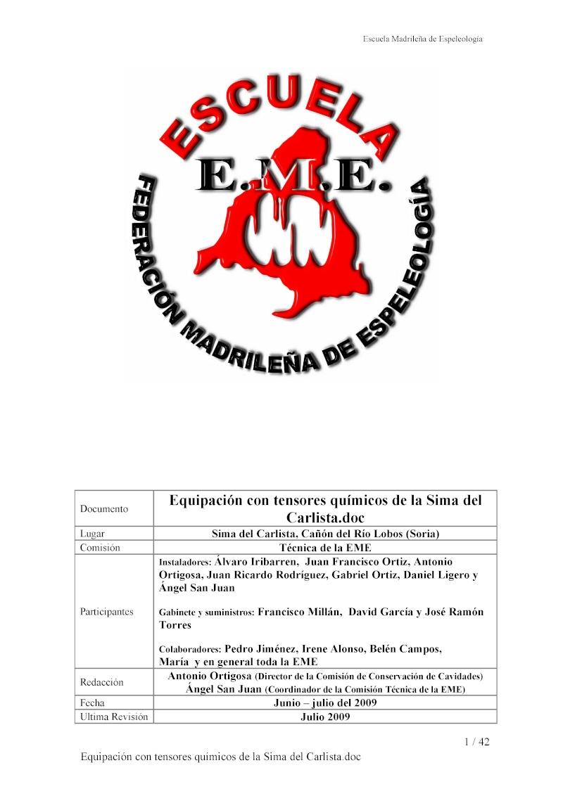Sima del Carlista en Río Lobos Equipa10