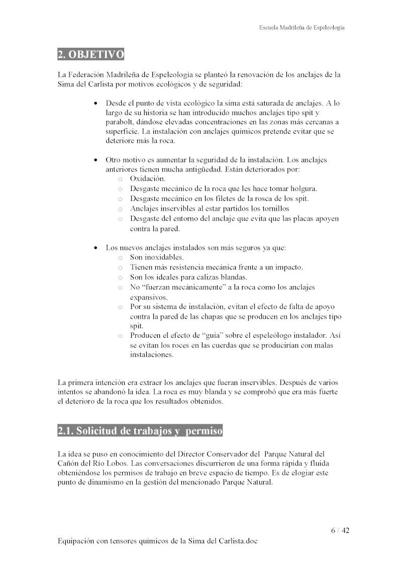 Sima del Carlista en Río Lobos Equipa14