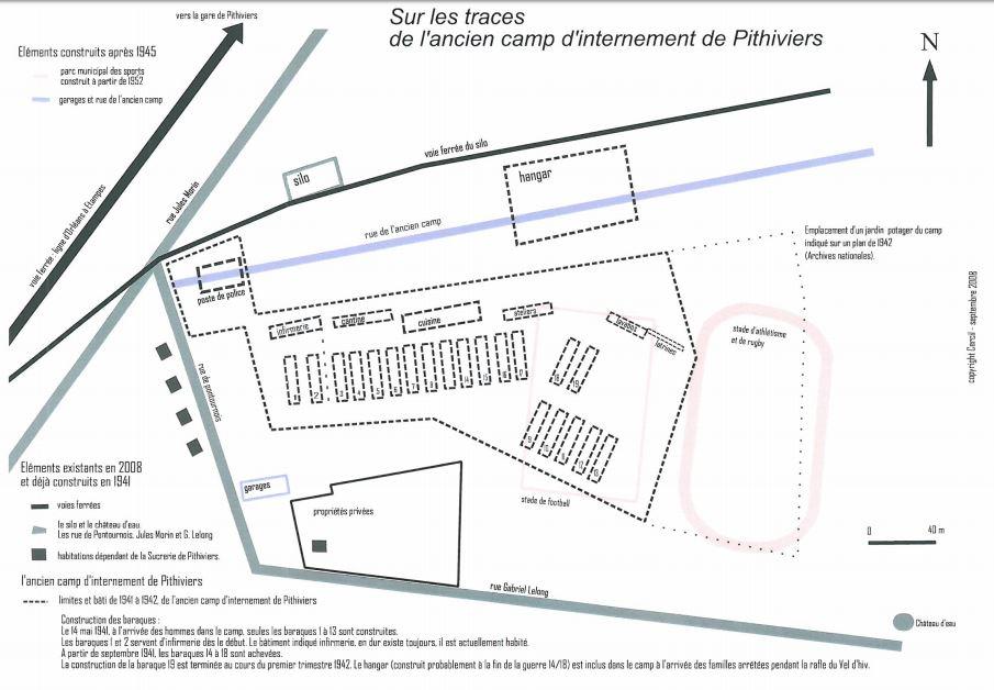 Plan original du camp d'internement de PITHIVIERS Captur16