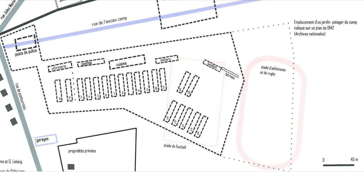 Plan original du camp d'internement de PITHIVIERS Captur17