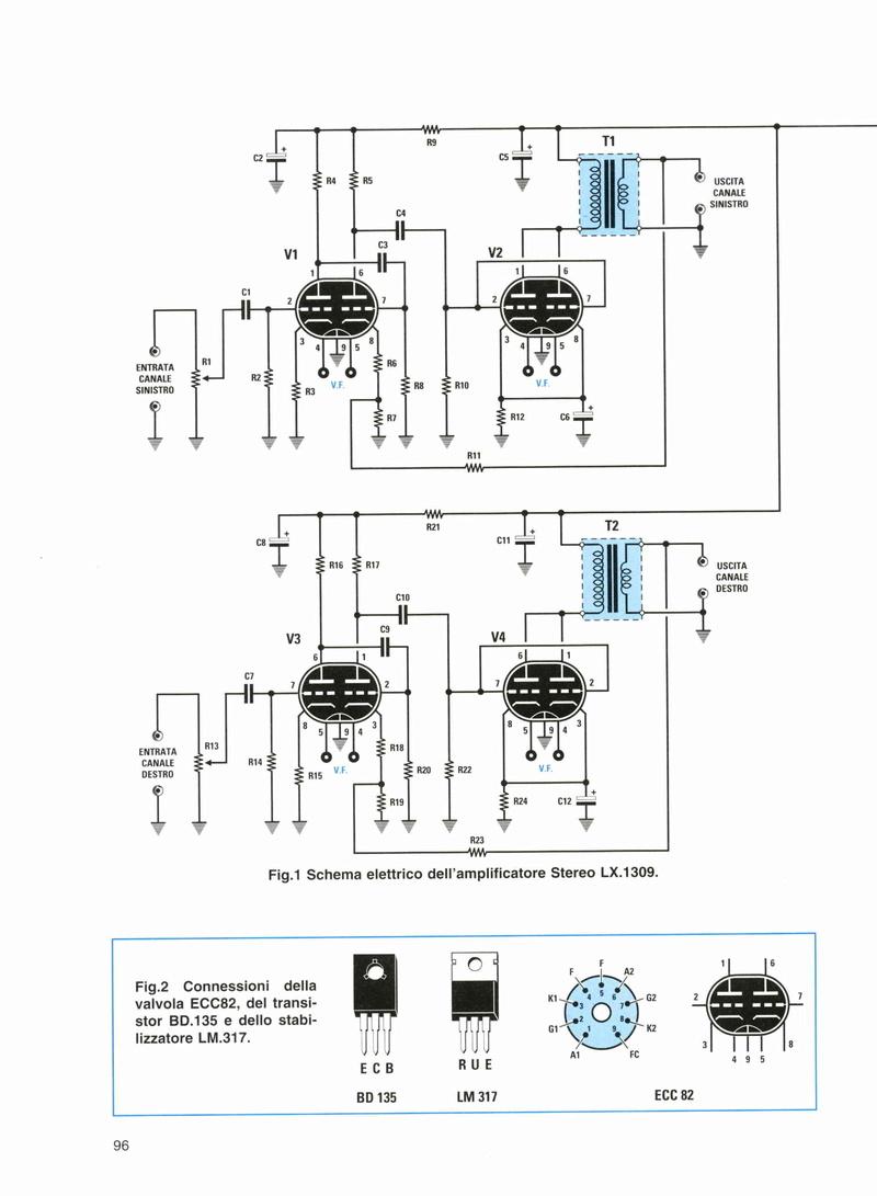 Kit N.E. LX 1309, amplificatore a valvole Amplif10