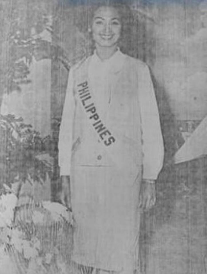 Binibining Pilipinas Universe 1964: Maria Myrna Sese Panlilio 16681813