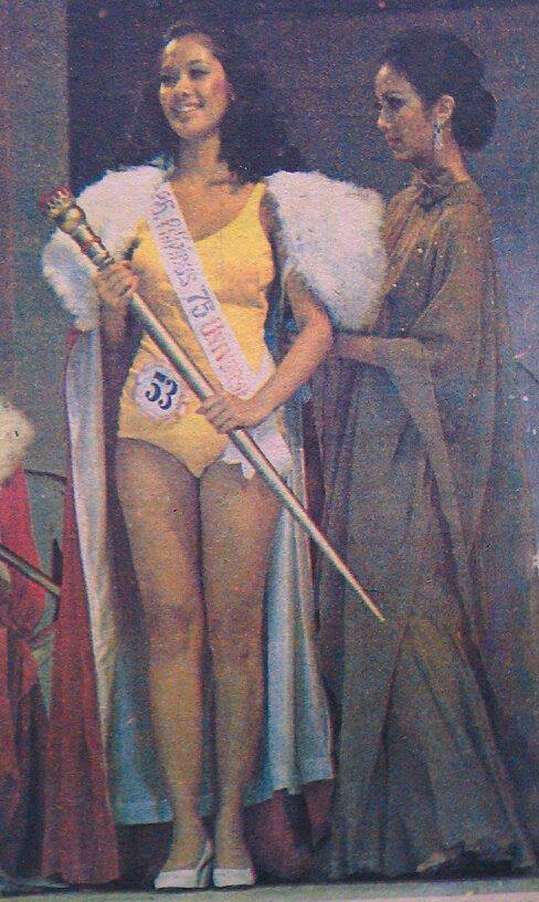 """Bb Pilipinas Universe 1975: Rosemarie """"Chiqui"""" Brosas (MU 75' 4th Runner Up) 16996311"""
